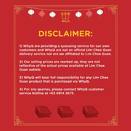 Lim Chee Guan's Bakkwa Disclaimer